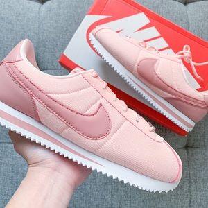 Women's Nike Cortez pastel pink shoes size 7